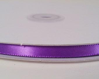 Single Face Satin Ribbon - Purple - 100 Yards