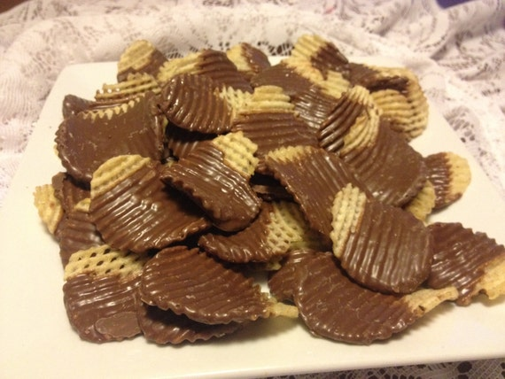 Chocolate Dipped Potato Chips by CrowleyDipped on Etsy