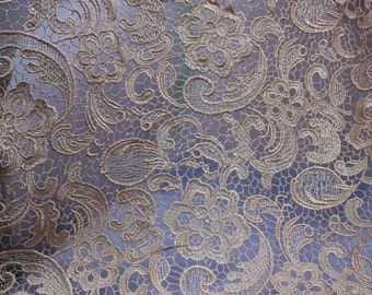 Guipure Lace Fabric, Embroidered Flowers, Hollowed Wedding Lace Fabric for Bridal Dress, Bodices, Skirt, Shorts, Craft Making, 1 Yard
