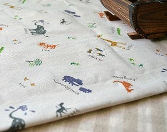 linen fabric,cartoon linen fabric,animal linen cotton fabric,kids fabric,kids curtain fabric,children room decoration fabric,shirt fabric,