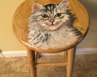 Cat Stool Etsy