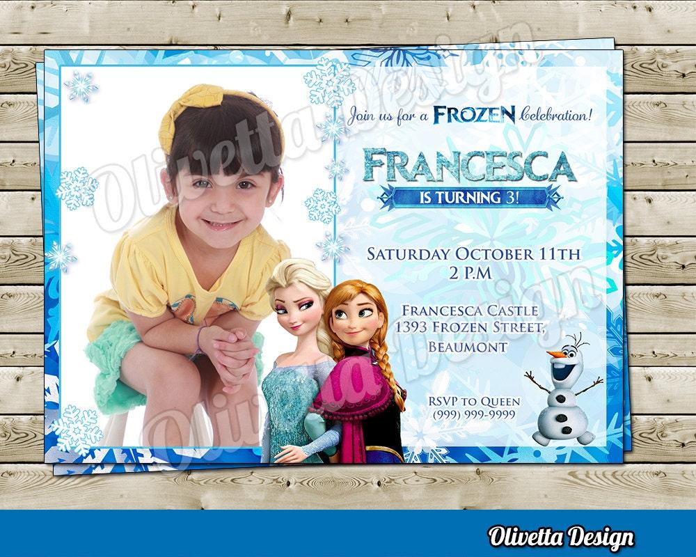 Tarjetas Para Cumpleaños De L A Frozen