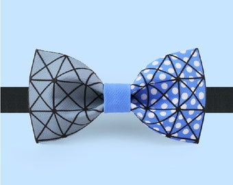 Magic Geometric Bowtie - Reticulate bow tie - Colorful bowtie - Adjustable bowtie