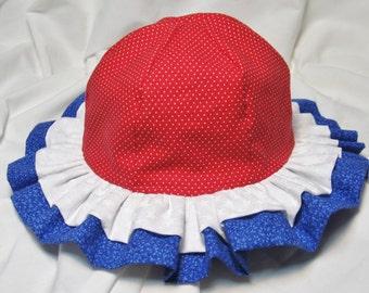 Infant Girl Ruffled Sun Hat