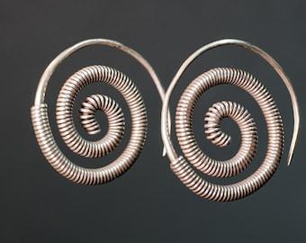 Earrings ethnic silver