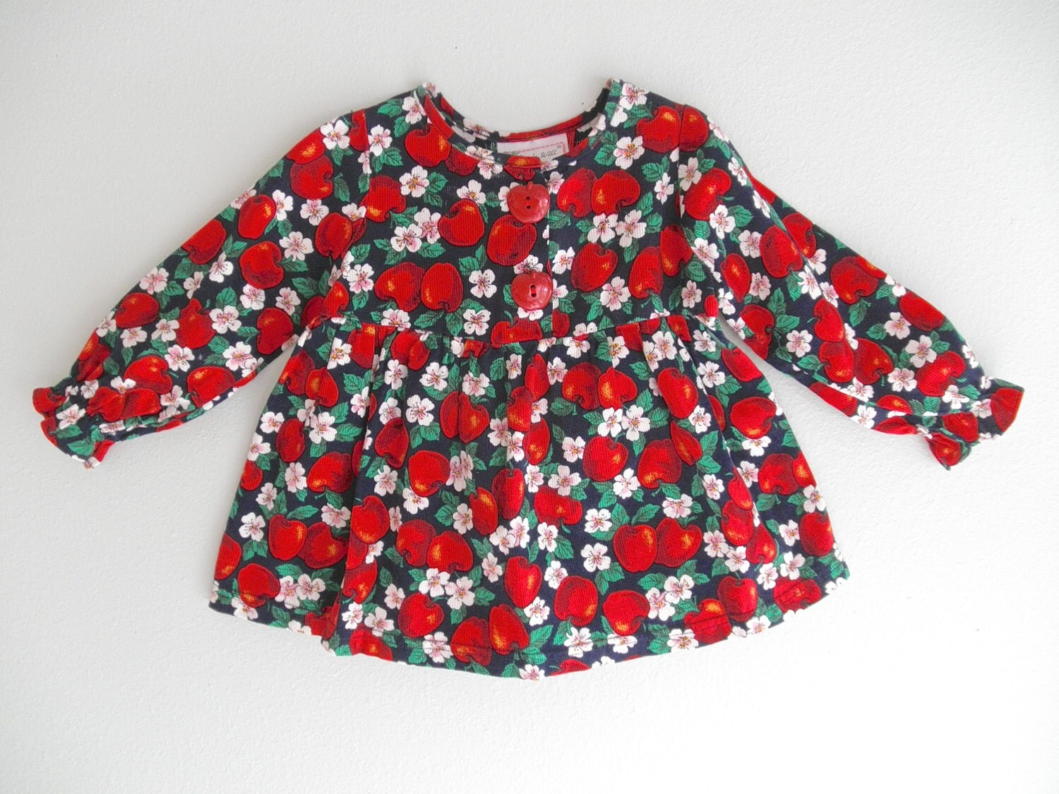 Vintage Baby Girl Clothes Rockabilly Red by ThePoshBabyShoppe