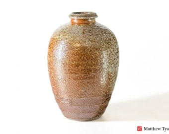 Stoneware Vase, Pottery Vase, Ceramic Vase, Ceramic Vessel: Stoneware Pottery, Soda Fired at the Leach Pottery