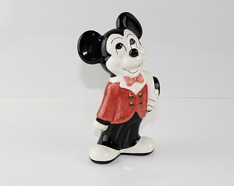Mickey Mouse Red Coat and Top Hat Statue Figurine