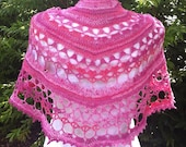 Cherry Grove Shawlette (Crochet Pattern). Detailed pattern to make this lovely shawl with only one ball of sock yarn. INSTANT DOWNLOAD
