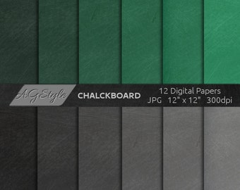 Chalkboard Digital Paper, Chalkboard Paper Digital, digital papers, chalkboards, chalkboard digital papers, green, gray, black background