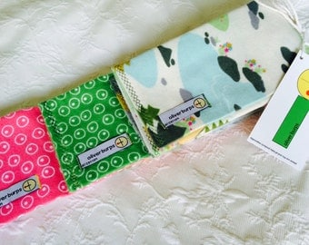 Baby Burp Cloths ~ Happy Camper ~ Oliver Burps ~ set of 3 ~