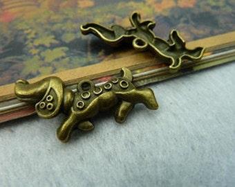 20pcs 16x29mm Antique Bronze Lovely Dog Charms Pendant c2147-21