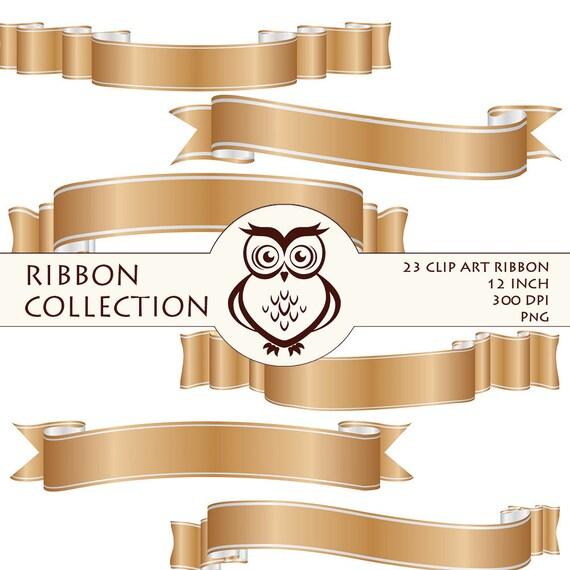 Items similar to digital ribbon clip art calligraphy