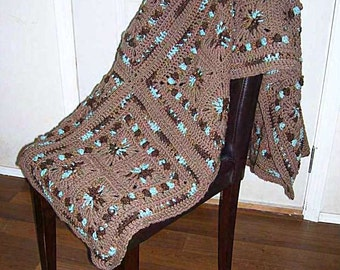 The Squares-in-Squares Granny Afghan