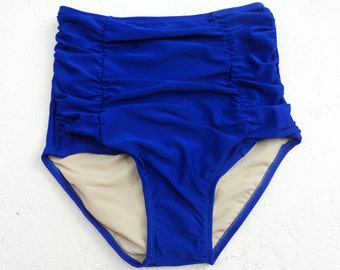 Beautiful Deep Blue High Waist Bottom/fully lined/top quality fabric/gorgeous deep blue color