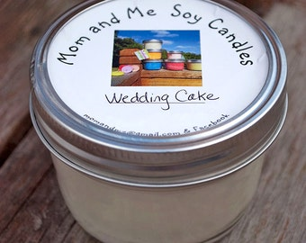 Wedding Cake 8 ounce Scented Soy Candle