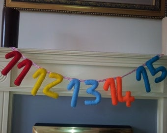 11-15 number bunting