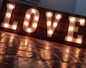 Love Marquee Wood Sign