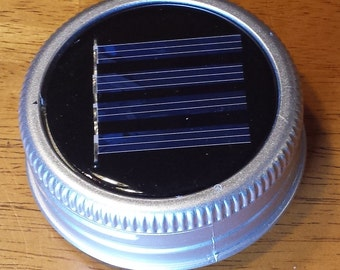 Mason Jar Solar Lid Light - Great for Projects and Crafts