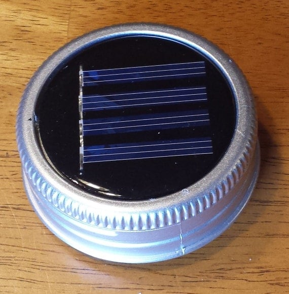 Mason jar solar lid light color changing led great by fsgifts for Led lights for craft projects