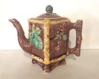 English Majolica Teapot