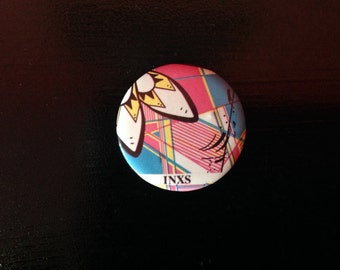Vintage Early 80s INXS Button / Pin (Date Stamped 1983)