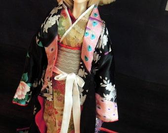 Doll clothes Courtesan's Kimono Set - Jasper