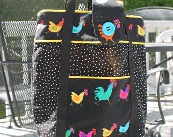 Rooster  tote bag.