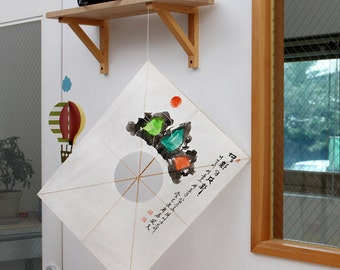 sansuhwa yeon korean traditional kite made by cultural intangible asset in busan korea home - Artisan Home Decor