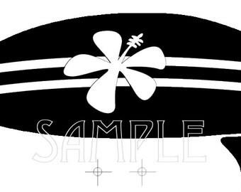 Surfboard Graphic Image Stencil