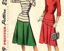 Simplicity 2183 Teen's Sweet Long Torso Two-Piece Dress / ca. 1947 / TEENSZ12 UNCUT
