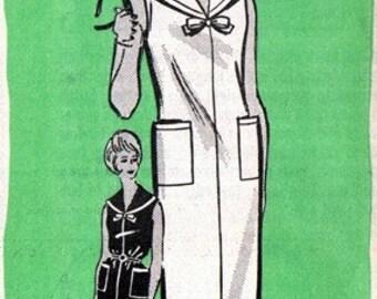 Mail Order 9442 Natural Beauty Nautical Dress 1963 / SZ16 UNCUT