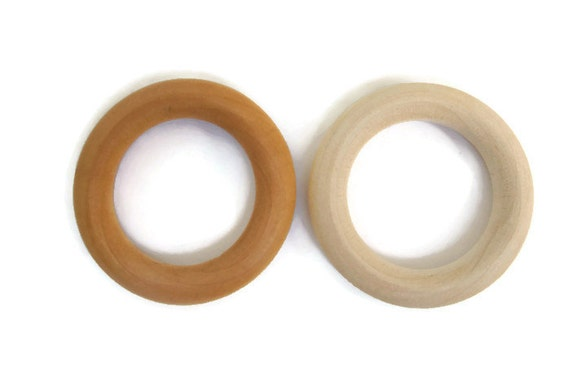 Natural 2 1 4 inch maple wooden rings for by thekitncaboodle for Wooden rings for crafts