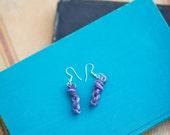 Purple Skein Earrings
