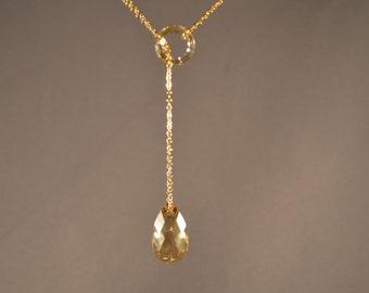 Swarovski Crystal Lariat Necklace