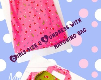 Girl's Sundress with Matching Bag