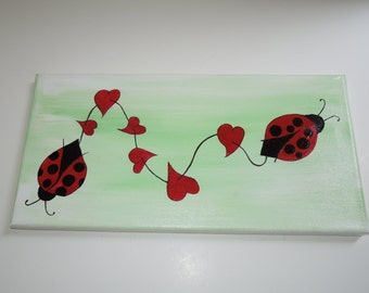 Ladybugs In Love Painting