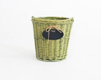 Newborn Prop Vintage Wicker Basket With Chalkboard