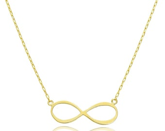 14K Yellow Gold Forever Infinity Necklace