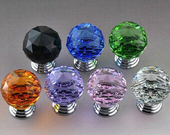 1.20u0027u0027 Crystal Ball Knobs / Glass Knobs / Drawer Knobs / Dresser Pulls  Handles / Kitchen Cabinet Knob Sparkly Decorative Hardware L11