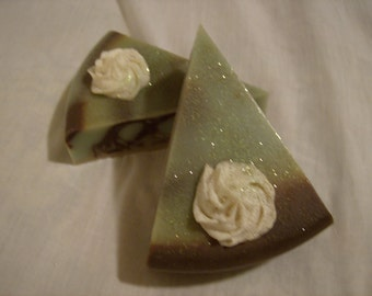 Chocolate-Mint Cheesecake Soap