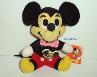 Sale Vintage Disney Mickey Mouse Plush Stuffed Doll from 1970s
