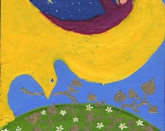 Prayer Panel 4. Original Contemporary Christian Art Painting Mixed Media