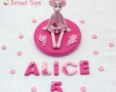 Items similar to angelina ballerina cake topper decoration for Angelina ballerina edible cake topper decoration sale