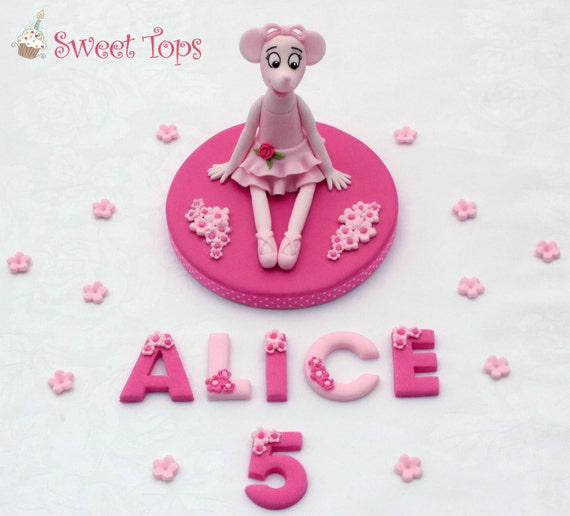 Angelina ballerina cake topper decoration with up to 7 letters for Angelina ballerina edible cake topper decoration sale