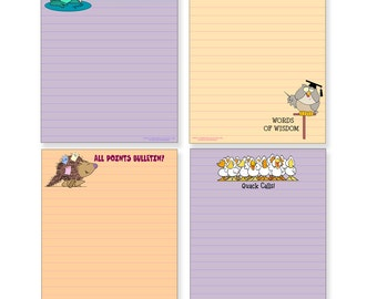 Four Cute Note Pads - Great For Kids or Adults