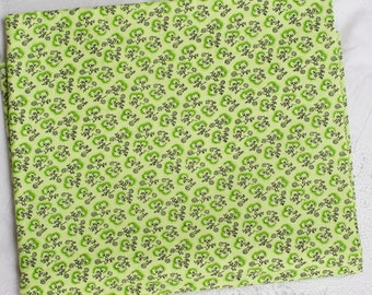 Green Cotton Fabric by the yard