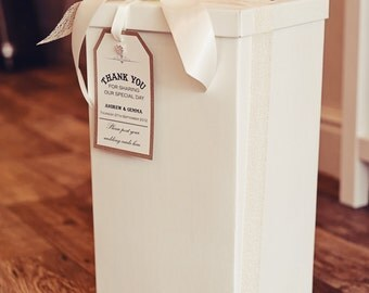 Wedding or Party Post Box & Vintage,Rustic,Shabby Chic tag with optional decorations
