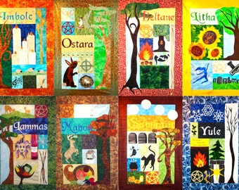 Sabbat Quilt Wallhanging Patterns (set of eight)