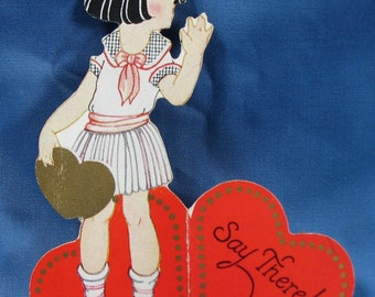 Vintage Childrens Cut Out Valentine 1930s